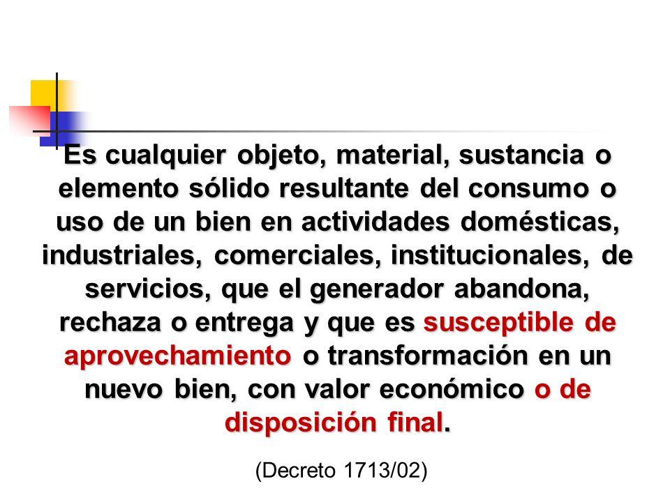 2.PERDIDA DEL POTENCIAL DE UTILIZACIÓN DE LOS RESIDUOS SÓLIDOS Mezcla de residuos en origen.