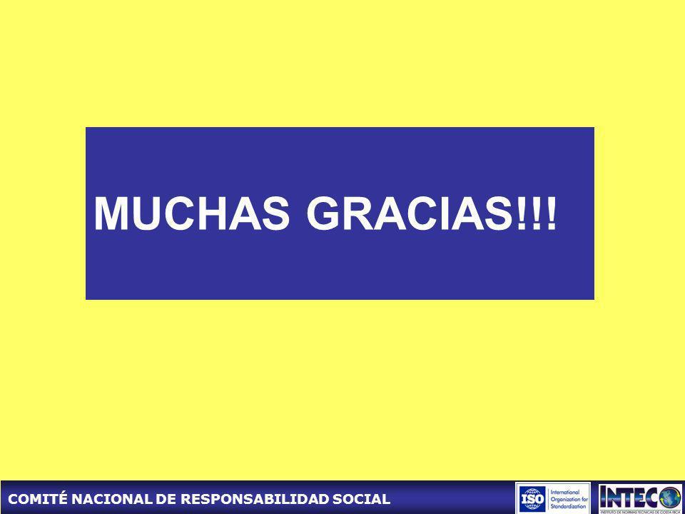 COMITÉ NACIONAL DE RESPONSABILIDAD SOCIAL MUCHAS GRACIAS!!!