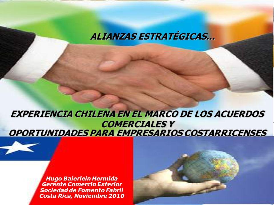 INTERCAMBIO COMERCIAL CHILE - ESTADOS UNIDOS (cifras en millones de US$) Fuente: Lexis Nexis 98,3% DE LOS PRODUCTOS INGRESAN CON ARANCEL 0