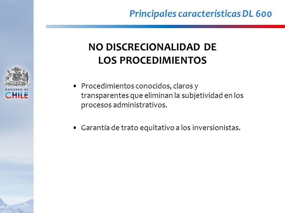 Procedimientos conocidos, claros y transparentes que eliminan la subjetividad en los procesos administrativos. Garantía de trato equitativo a los inve