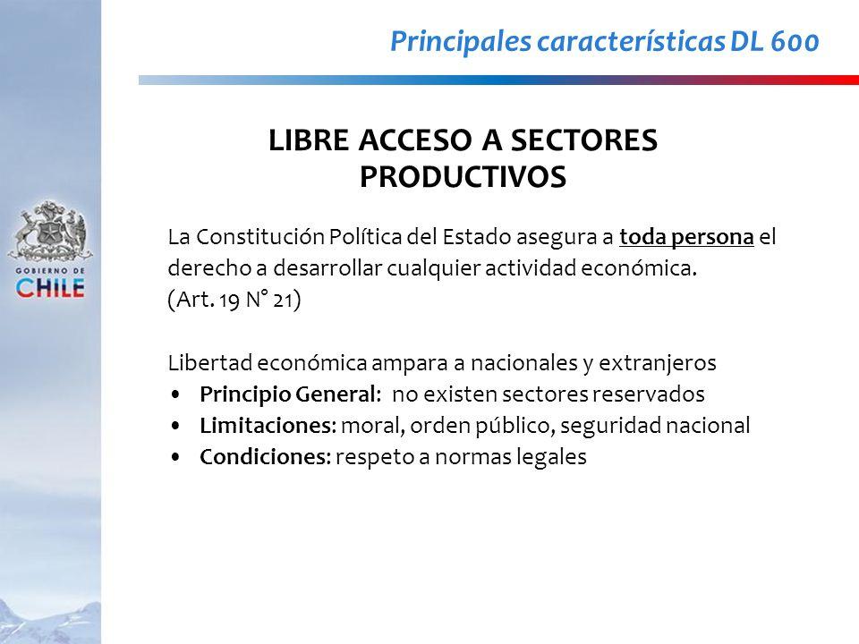 La Constitución Política del Estado asegura a toda persona el derecho a desarrollar cualquier actividad económica. (Art. 19 N° 21) Libertad económica