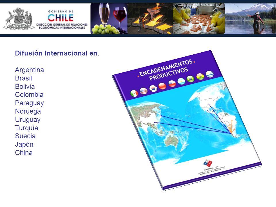 Difusión Internacional en: Argentina Brasil Bolivia Colombia Paraguay Noruega Uruguay Turquía Suecia Japón China