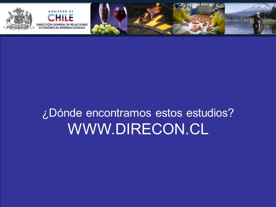 ¿Dónde encontramos estos estudios? WWW.DIRECON.CL