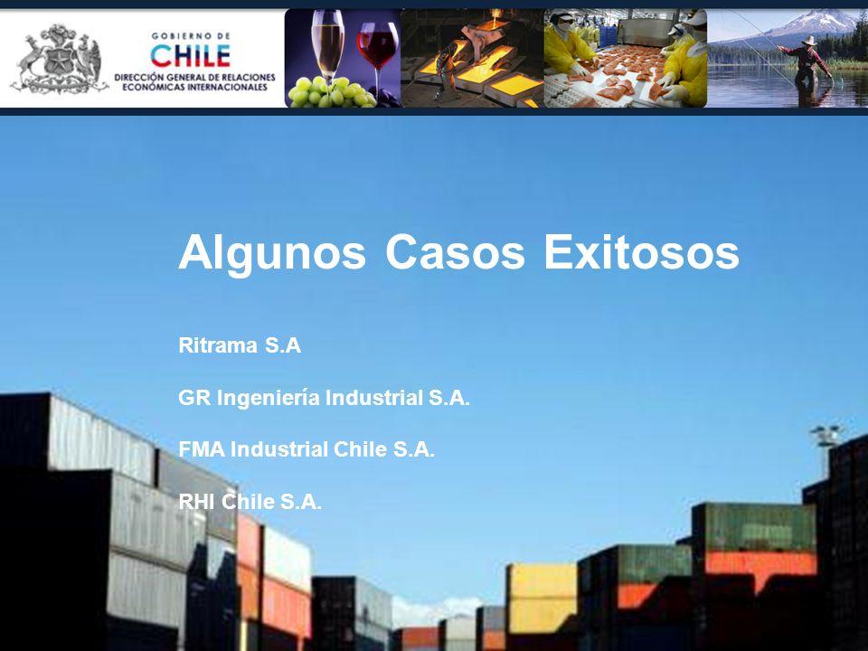 Algunos Casos Exitosos Ritrama S.A GR Ingeniería Industrial S.A. FMA Industrial Chile S.A. RHI Chile S.A.
