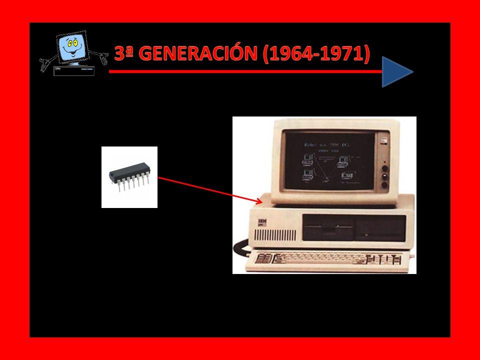 Características de la 3era. Generación Se incorpora el circuito integrado Circuitos integrados es un circuito electrónico completo sobre una pastilla