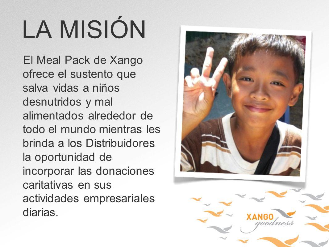 El Meal Pack de Xango ofrece el sustento que salva vidas a niños desnutridos y mal alimentados alrededor de todo el mundo mientras les brinda a los Di