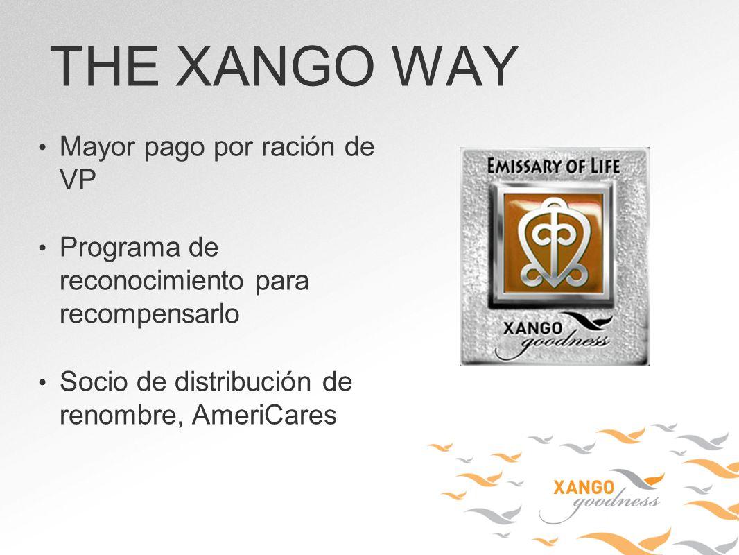 Mayor pago por ración de VP Programa de reconocimiento para recompensarlo Socio de distribución de renombre, AmeriCares THE XANGO WAY