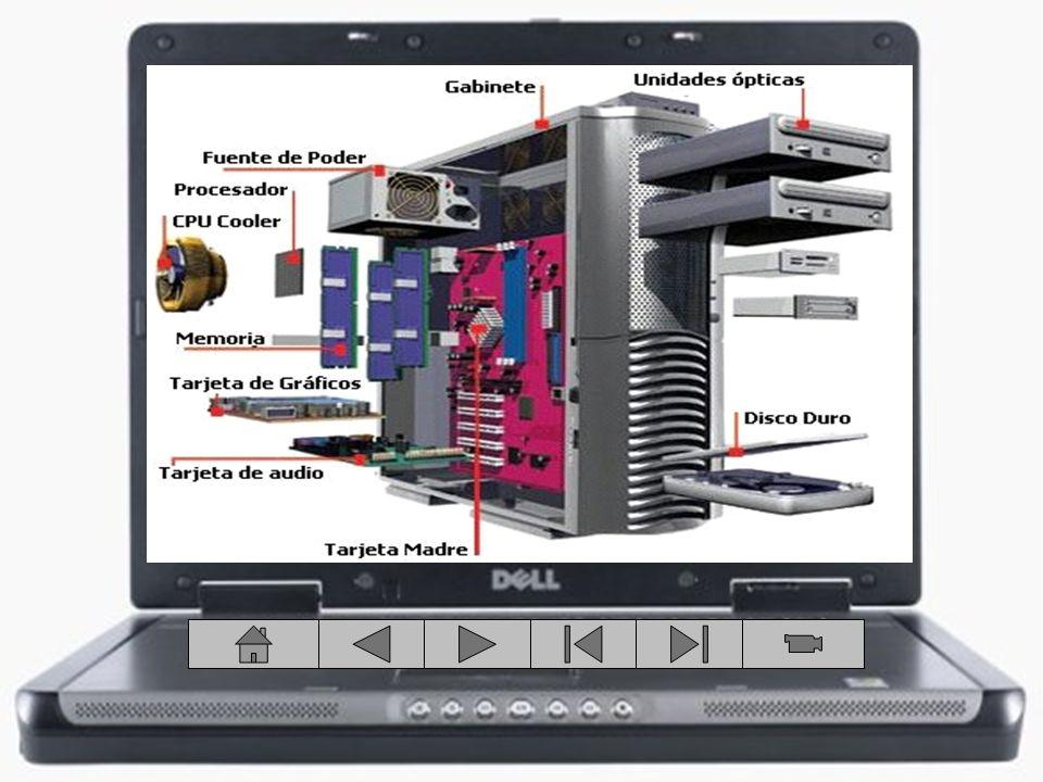 Es una caja cerrada de donde se conectan todos los componentes que integran a la computadora y a su vez ésta permite protegerlos.