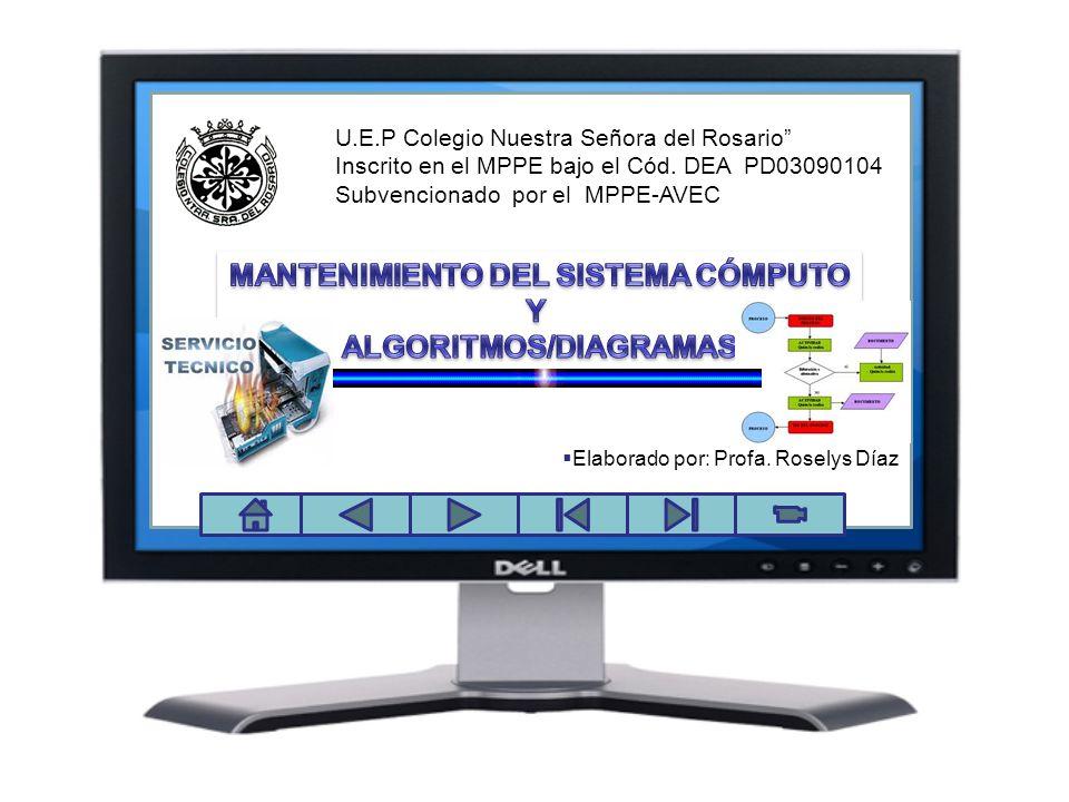 U.E.P Colegio Nuestra Señora del Rosario Inscrito en el MPPE bajo el Cód. DEA PD03090104 Subvencionado por el MPPE-AVEC Elaborado por: Profa. Roselys