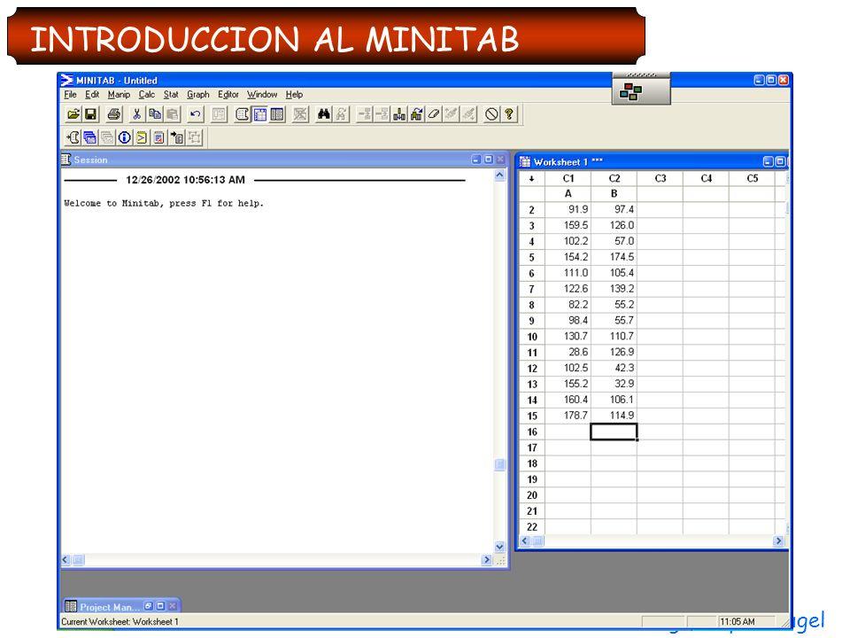 Ing. Felipe Llaugel INTRODUCCION AL MINITAB
