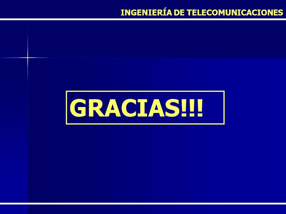 GRACIAS!!! INGENIERÍA DE TELECOMUNICACIONES