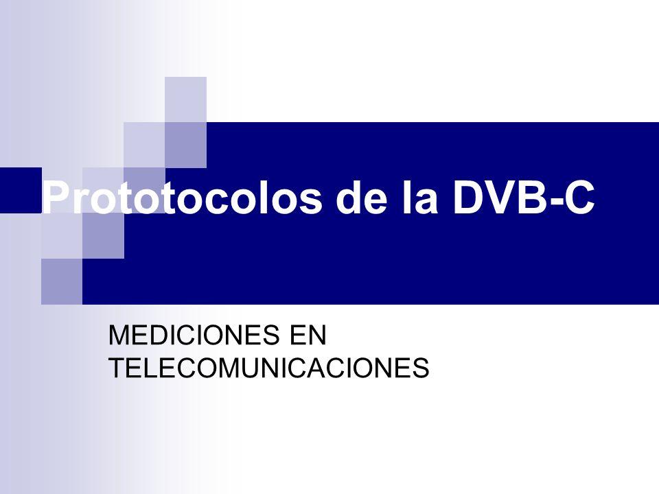 Prototocolos de la DVB-C MEDICIONES EN TELECOMUNICACIONES