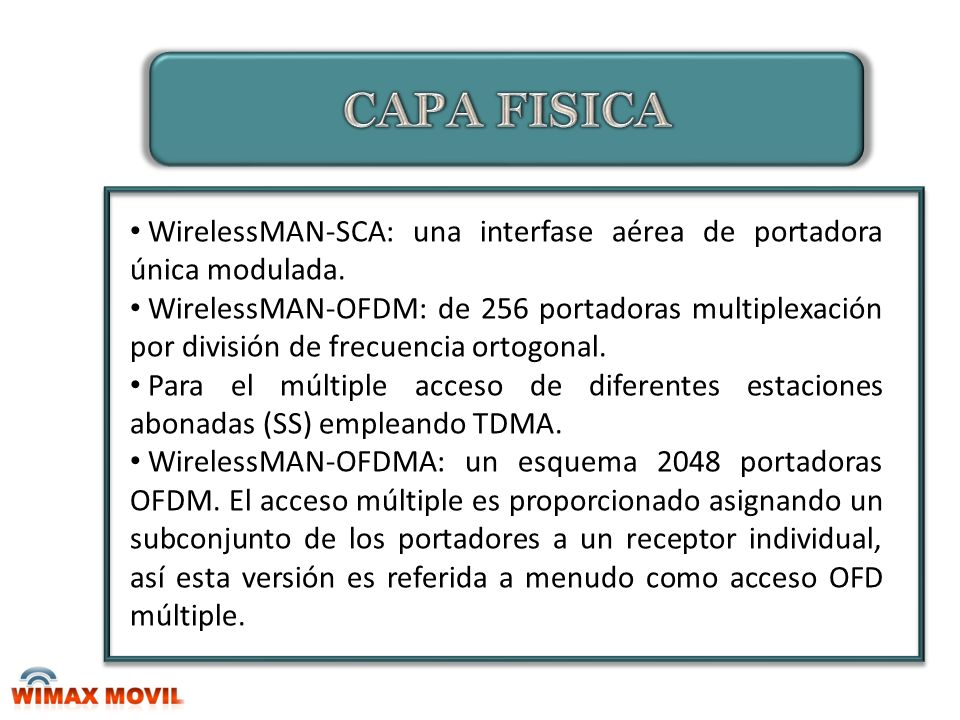 Comunicación entre estación base y usuario BS (Base Station) Router WiMAX