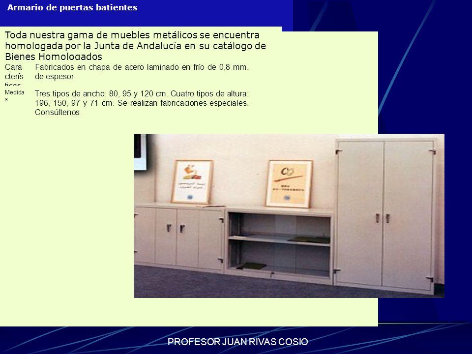 PROFESOR JUAN RIVAS COSIO Armario de puertas batientes Toda nuestra gama de muebles metálicos se encuentra homologada por la Junta de Andalucía en su