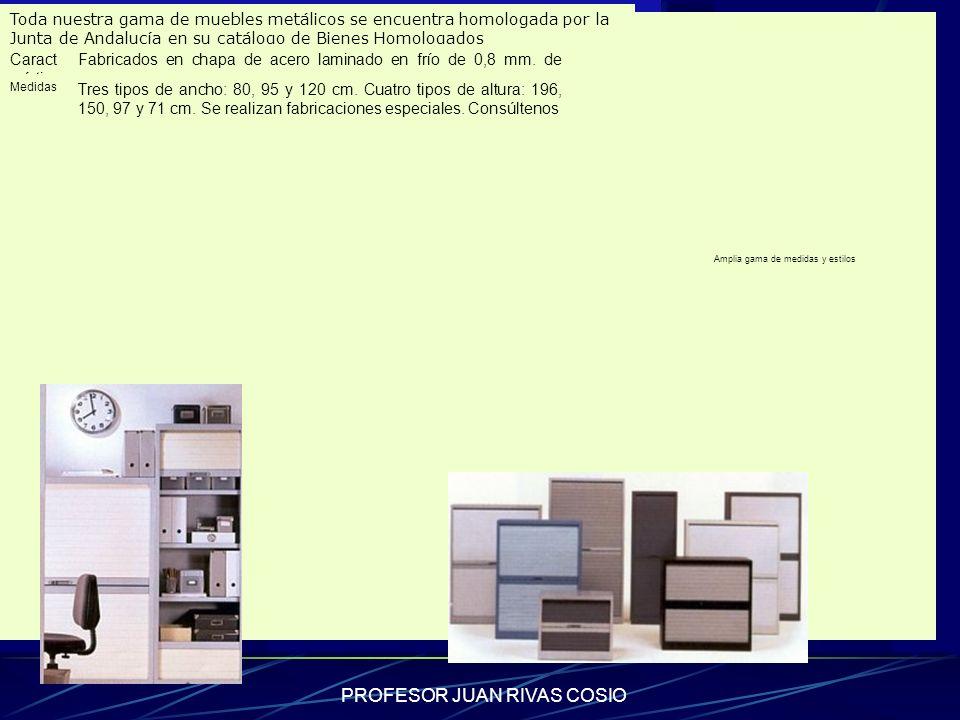 PROFESOR JUAN RIVAS COSIO Armario de persiana vertical Toda nuestra gama de muebles metálicos se encuentra homologada por la Junta de Andalucía en su