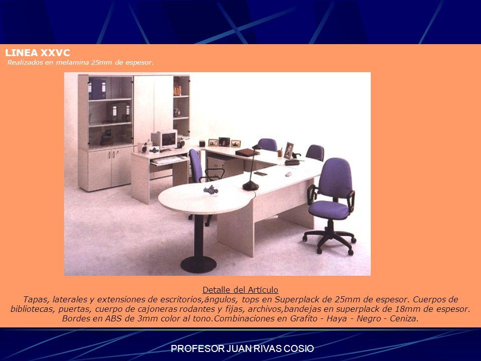 PROFESOR JUAN RIVAS COSIO LINEA XXVC Realizados en melamina 25mm de espesor. Detalle del Artículo Tapas, laterales y extensiones de escritorios,ángulo