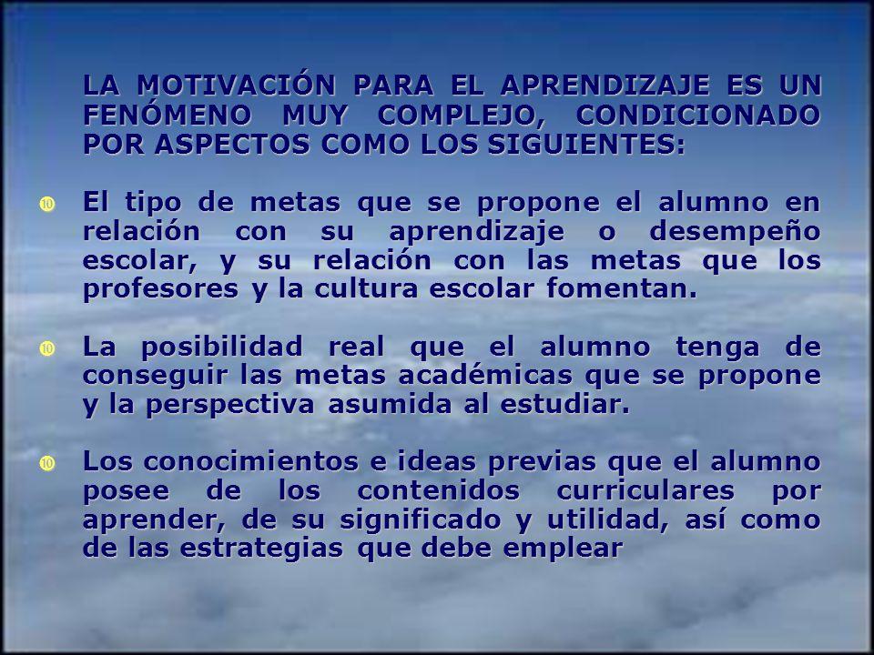 PROPÓSITOS DE LA MOTIVACIÓN ESCOLAR 1. Despertar el interés en el alumno y dirigir su atención. 2. Estimular el deseo de aprender que conduce al esfue