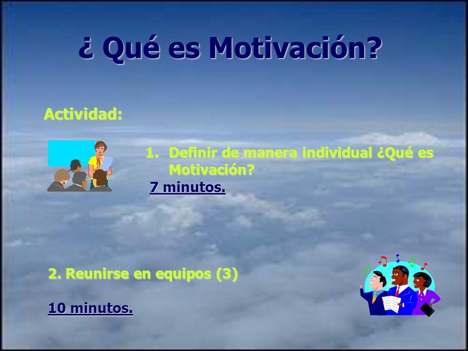 ¿ Qué es Motivación.Actividad: 1.Definir de manera individual ¿Qué es Motivación.