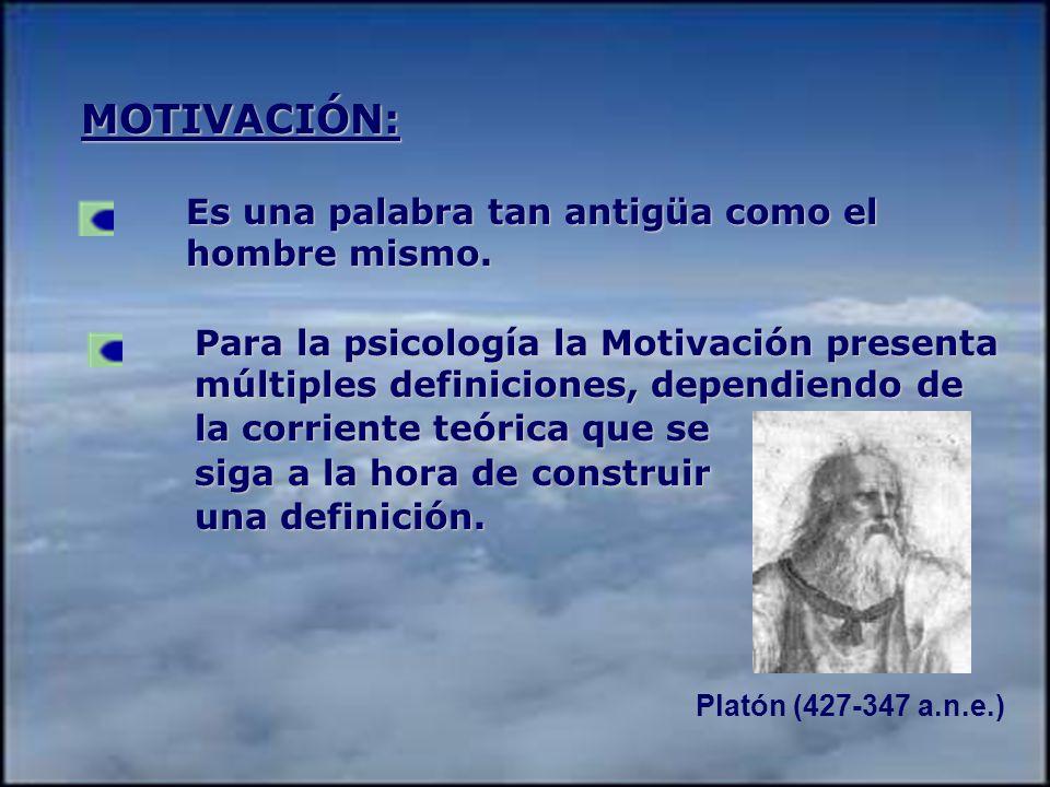 Platón (427-347 a.n.e.) MOTIVACIÓN: Es una palabra tan antigüa como el hombre mismo.