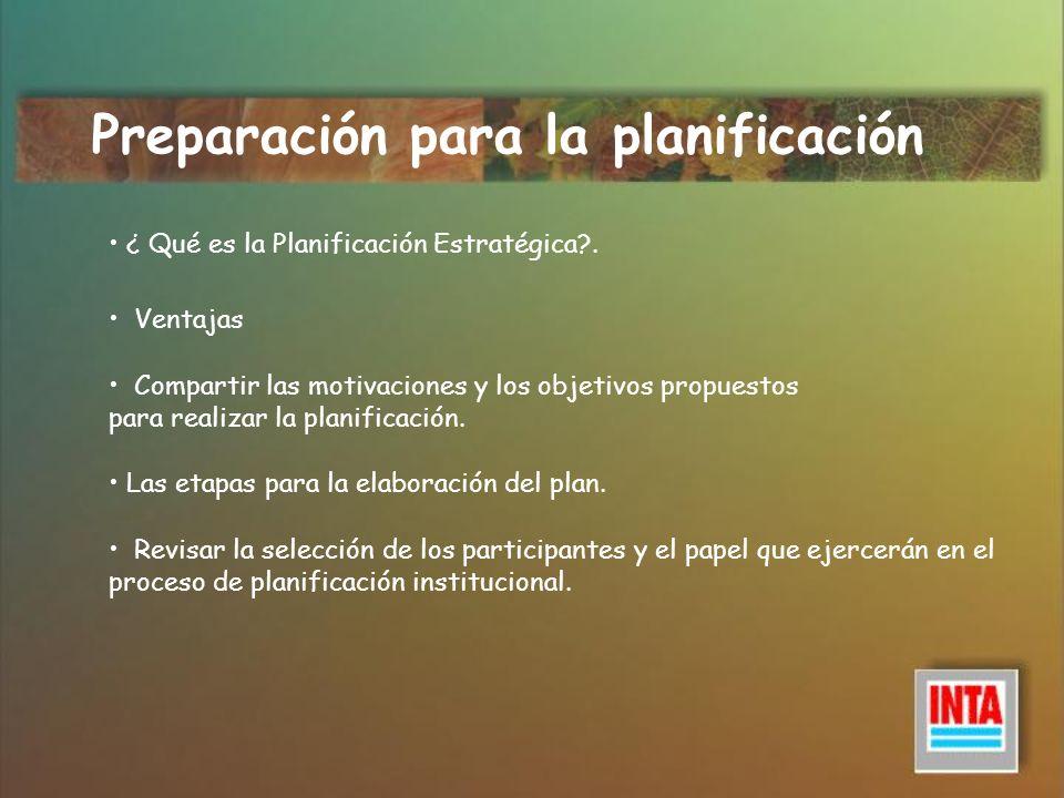 ¿Quién hace qué en el proceso de planificación organizativa?