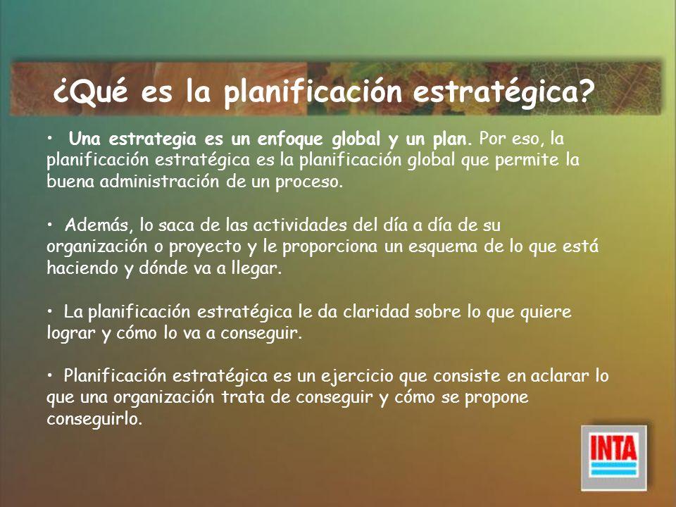 La planificación estratégica permite responder a las siguientes preguntas: ¿Quiénes somos.