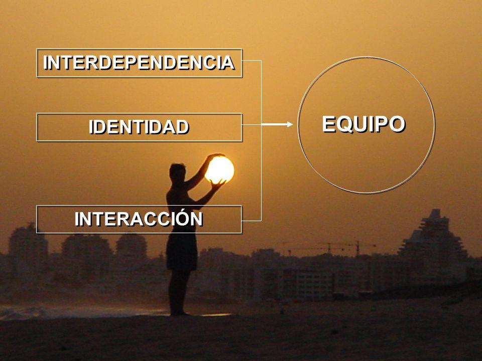 INTERDEPENDENCIA IDENTIDAD INTERACCIÓN EQUIPO