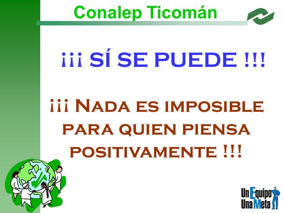 ¡¡¡ Nada es imposible para quien piensa positivamente !!! ¡¡¡ SÍ SE PUEDE !!!
