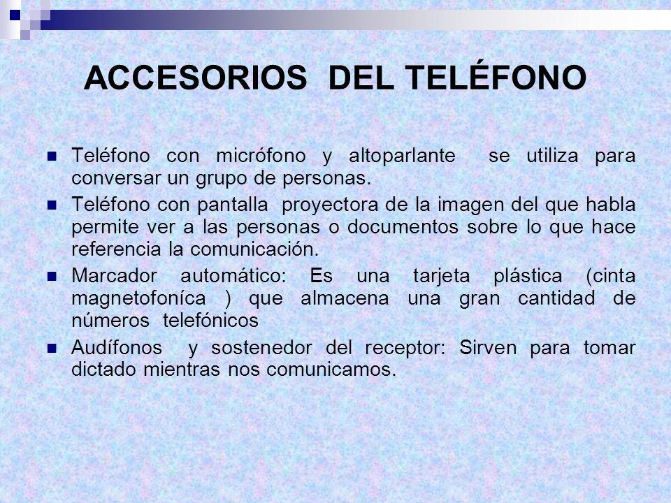 ACCESORIOS DEL TELÉFONO Teléfono con micrófono y altoparlante se utiliza para conversar un grupo de personas. Teléfono con pantalla proyectora de la i