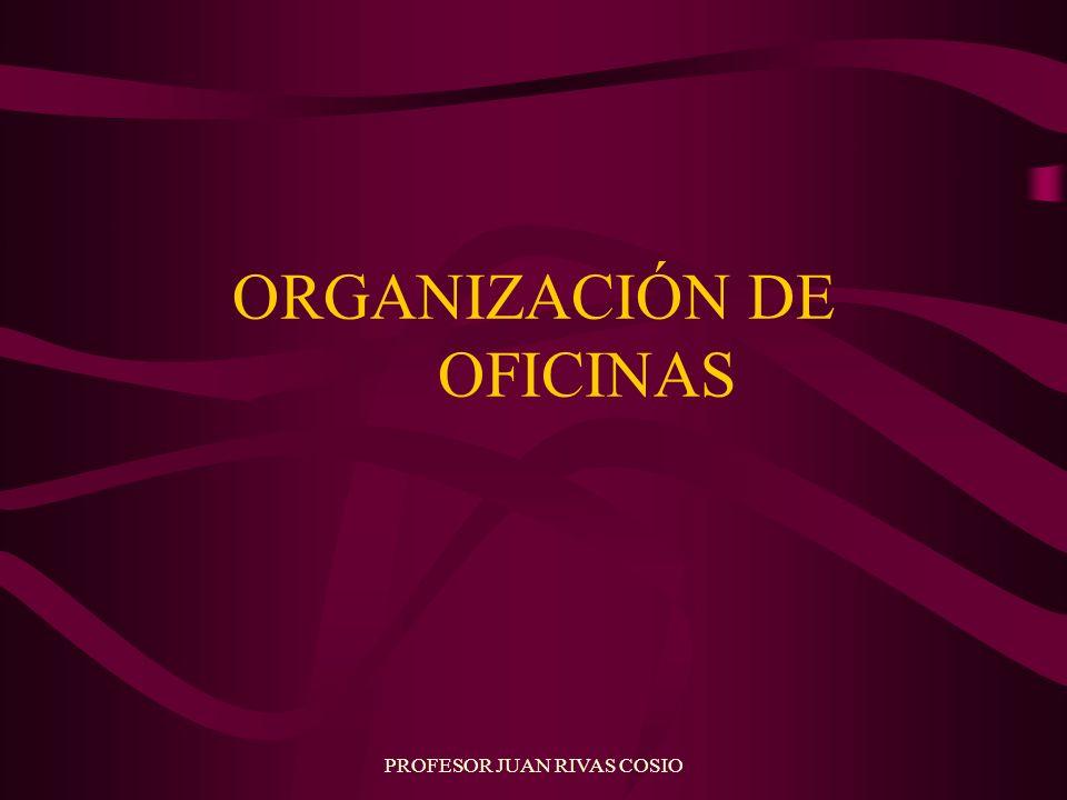 PROFESOR JUAN RIVAS COSIO ORGANIZACIÓN DE OFICINAS