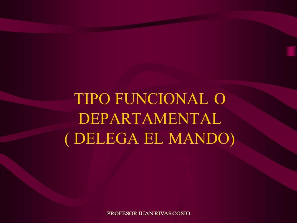PROFESOR JUAN RIVAS COSIO TIPO FUNCIONAL O DEPARTAMENTAL ( DELEGA EL MANDO)