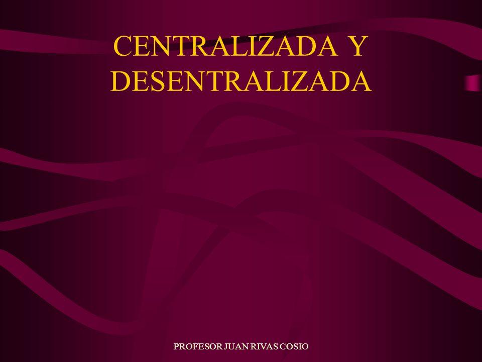 PROFESOR JUAN RIVAS COSIO CENTRALIZADA Y DESENTRALIZADA