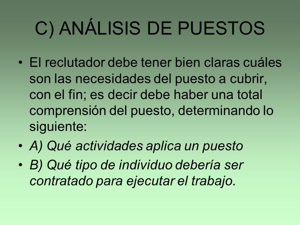 ENTRADAS DEL PROCESO DE SELECCIÓN PROCESO DE SELECCION PLANEACIÓN DE PERSONAL ANÁLISIS DE PUESTOS CANDIDATOS