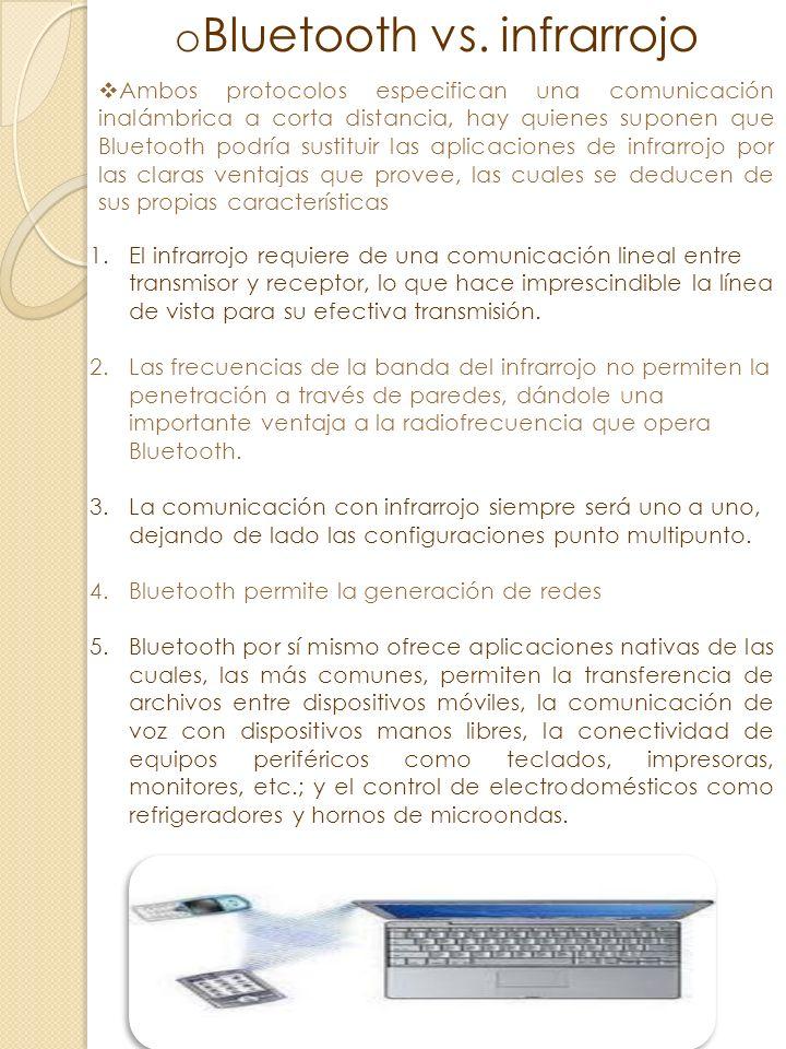 oBoBluetooth La tecnología inalámbrica Bluetooth es una tecnología de ondas de radio de corto alcance cuyo objetivo es el simplificar las comunicacion
