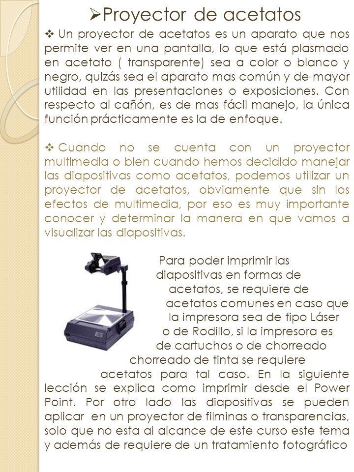 oCoCañón de proyección Un proyector de vídeo o cañón proyector es un aparato que recibe una señal de vídeo. y proyecta la imagen correspondiente en un