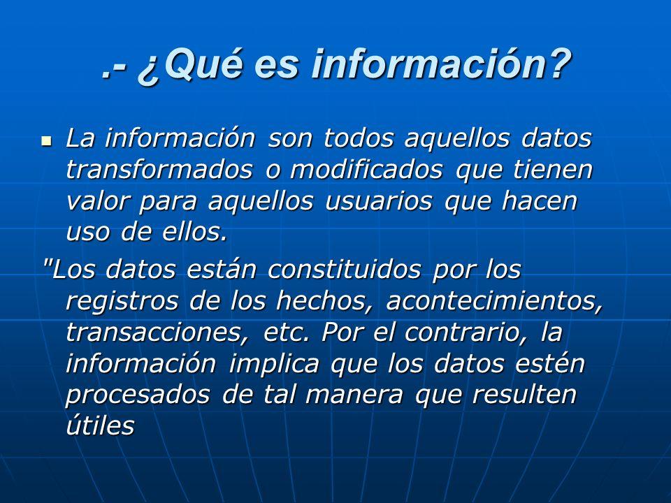 .- ¿Qué es información.