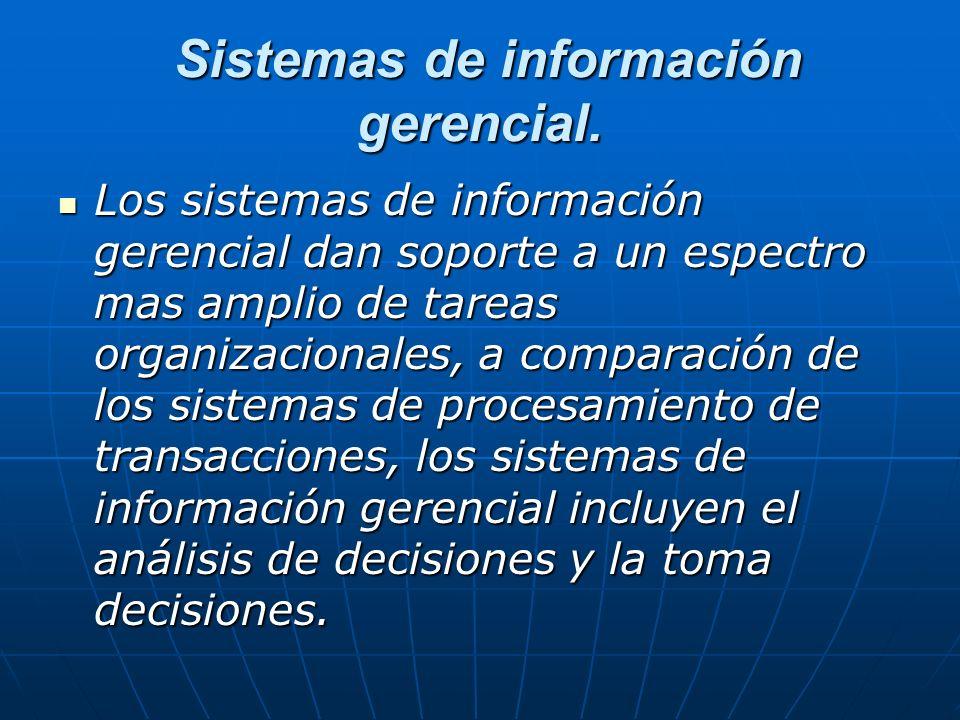 Sistemas de información gerencial. Sistemas de información gerencial.