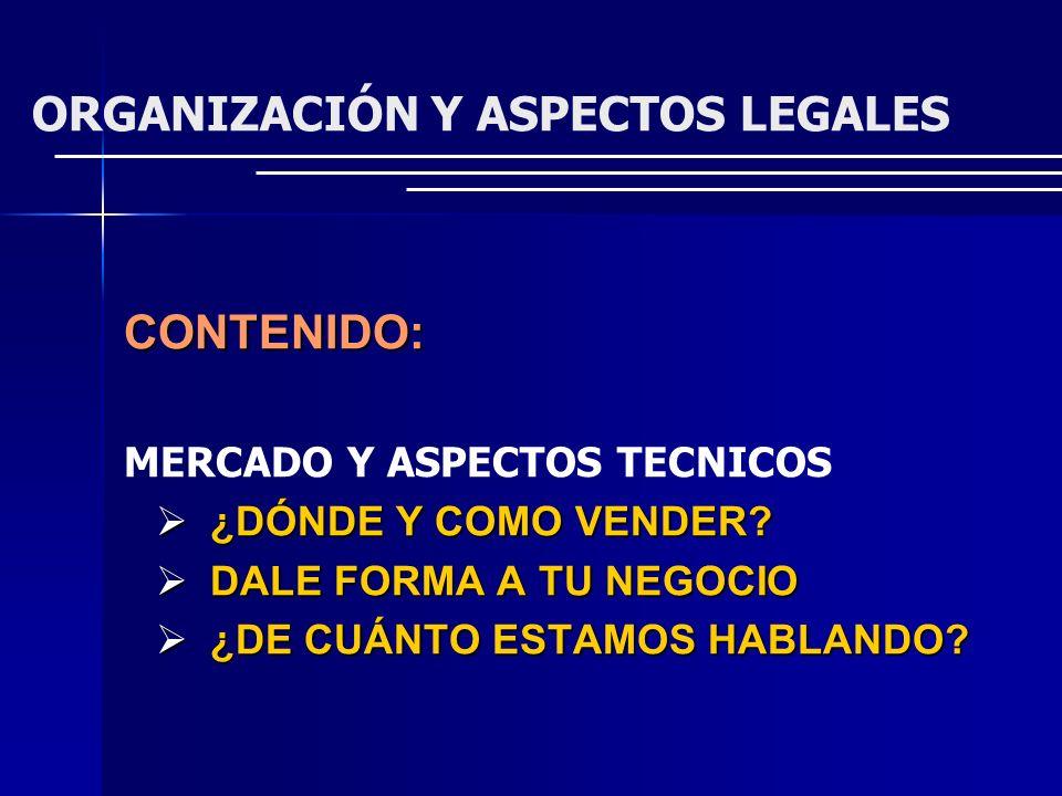 LOCALIZACION PROCESO TAMAÑO OBRA FISICA (CIVIL) ORGANIZACIÓN DE LA: - PRODUCCION - ADMINISTRACION CRONOGRAMA DE INSTALACION Y OPERACION MERCADO Y ASPECTOS TECNICOS ASPECTOS TECNICOS MERCADO DEFINICION DEL PRODUCTO POTENCIAL DEL MERCADO AREA DEL MERCADO PRECIOS ACTUALES Y FUTUROS PROYECCIONES CANALES DE COMERCIALIZACION PREVISIONES SOBRE VENTAS SOLUCIONES DE PRIMER ORDEN O BASICOS SOLUCIONES DE SEGUNDO ORDEN O COMPLEMENTARIAS