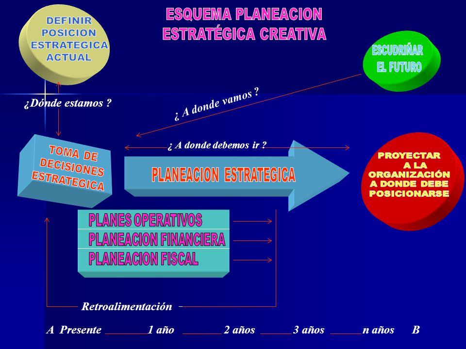 Evaluación y seguimiento Análisis situacional Determinación de necesidades Formulación de programas Ejecución de las acciones Proceso de consolidación y crecimiento Evaluación Operación Planeación Organización