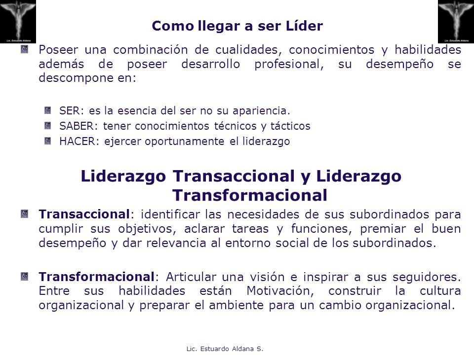 Lic. Estuardo Aldana S. Como llegar a ser Líder Poseer una combinación de cualidades, conocimientos y habilidades además de poseer desarrollo profesio
