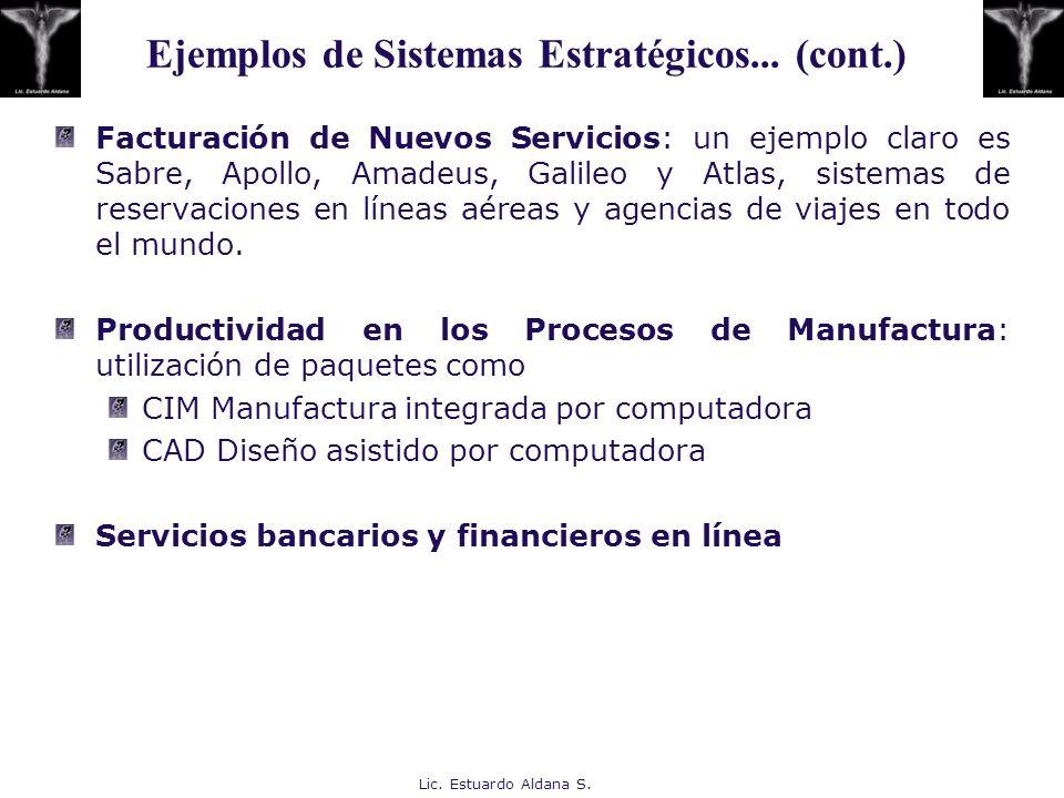 Lic. Estuardo Aldana S. Facturación de Nuevos Servicios: un ejemplo claro es Sabre, Apollo, Amadeus, Galileo y Atlas, sistemas de reservaciones en lín