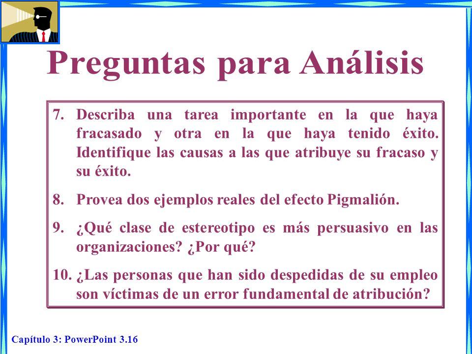 Capítulo 3: PowerPoint 3.16 7.Describa una tarea importante en la que haya fracasado y otra en la que haya tenido éxito. Identifique las causas a las