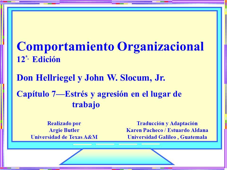 Comportamiento Organizacional 12 ª. Edición Capítulo 7Estrés y agresión en el lugar de trabajo Don Hellriegel y John W. Slocum, Jr. Traducción y Adapt
