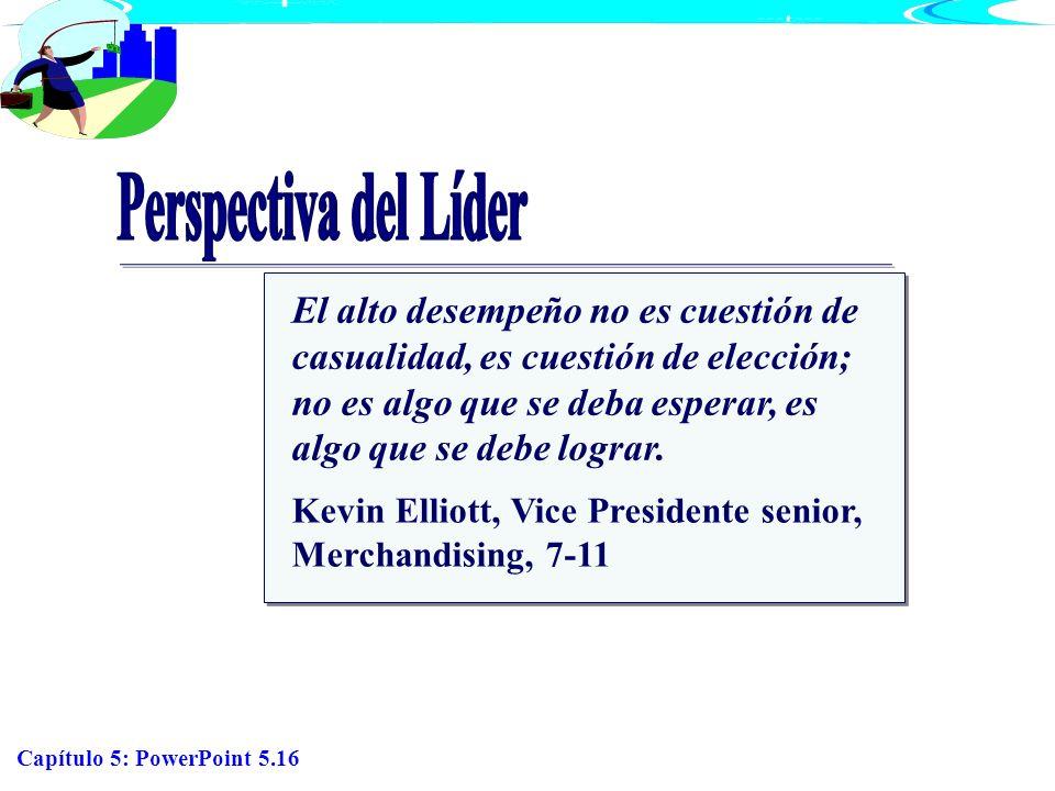 Capítulo 5: PowerPoint 5.16 El alto desempeño no es cuestión de casualidad, es cuestión de elección; no es algo que se deba esperar, es algo que se de