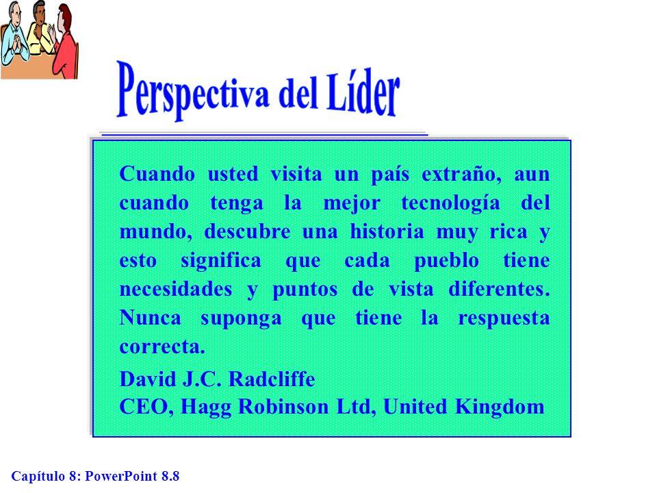 Capítulo 8: PowerPoint 8.9 Ejemplos de culturas en la línea continua del contexto cultural (Figura 8.3) Alto Contexto Bajo Contexto Fuente: Basado en Hall, E.