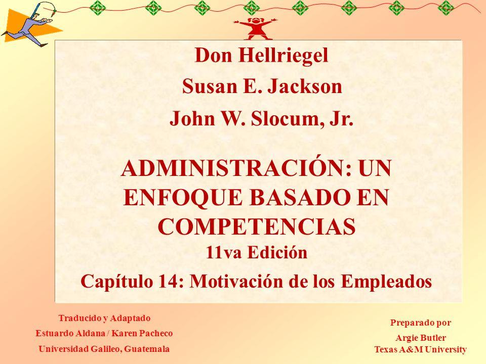Capítulo 14: PowerPoint 14.1 Objetivos de Aprendizaje 1.Describir cuatro enfoques que sirven para explicar la motivación y la satisfacción de los empleados.