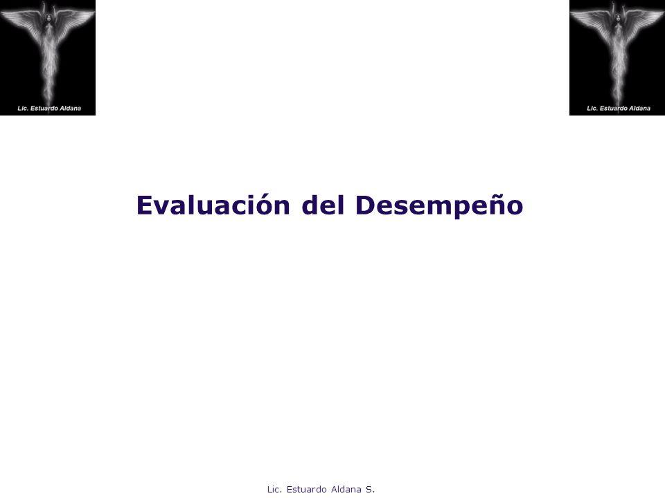 Evaluación del Desempeño Lic. Estuardo Aldana S.