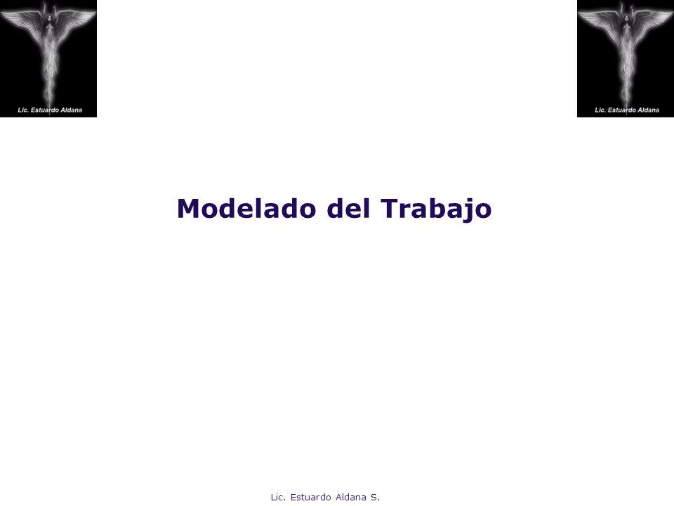 Modelado del Trabajo Lic. Estuardo Aldana S.