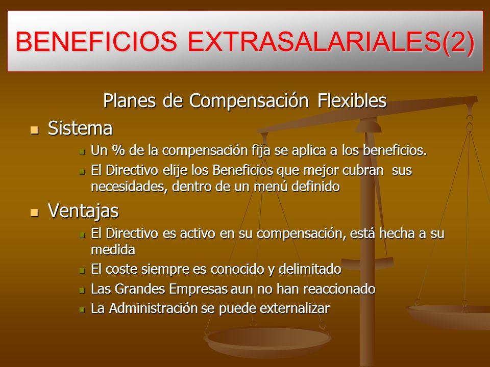 Planes de Compensación Flexibles Sistema Sistema Un % de la compensación fija se aplica a los beneficios.