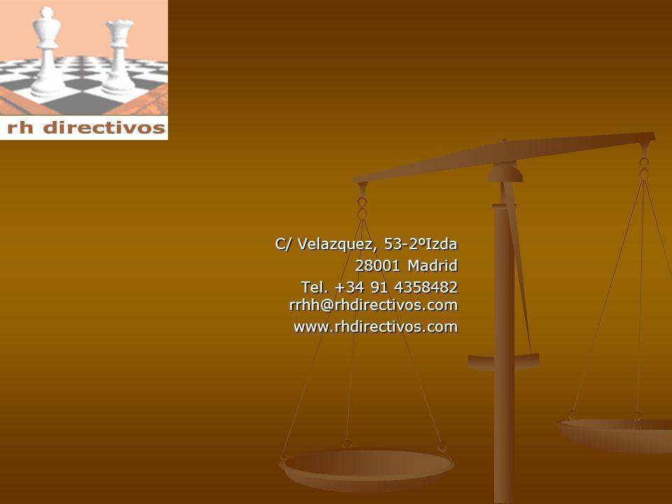 C/ Velazquez, 53-2ºIzda 28001 Madrid 28001 Madrid Tel.