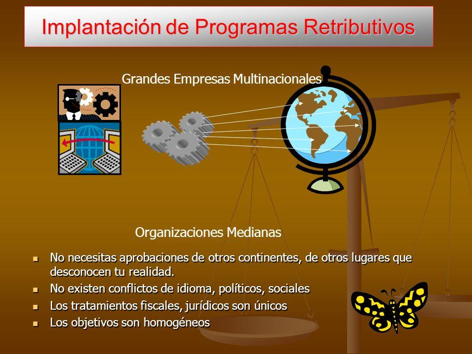 Implantación de Programas Retributivos Grandes Empresas Multinacionales No necesitas aprobaciones de otros continentes, de otros lugares que desconocen tu realidad.